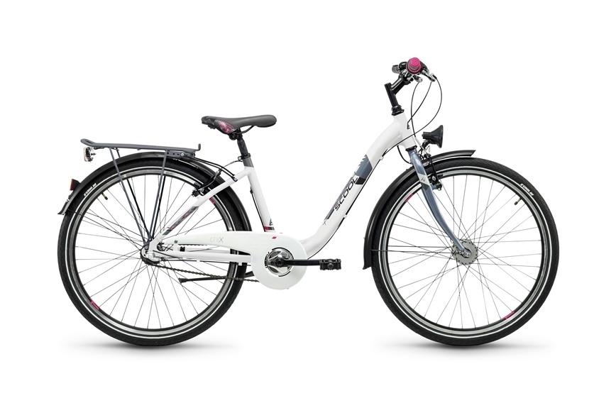 "Kinderrad S'COOL chiX alloy 3S 26"" 3G Nexus Rh 38 cm white-anthrazit"