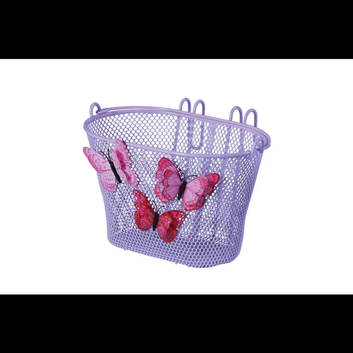 BIKE FASHION Kunststoff-Kinderkorb Butterfly lila