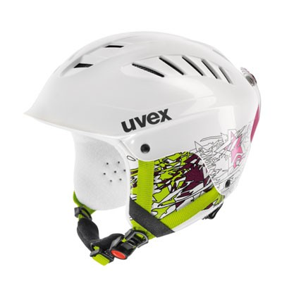 Skihelm Uvex X-Ride Junior Motion white pink