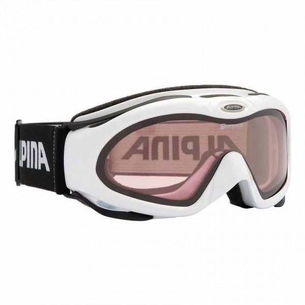 Skibrille Alpina BONFIRE QUATTROFLEX HICON S2 schmales Gesichtsfeld weiss & schwarz – Bild 2