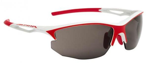 Sportbrille Alpina Sorcery HR C+ white-red