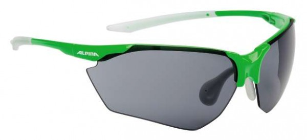 Sportbrille Alpina Splinter HR C+ green-white & titan-black