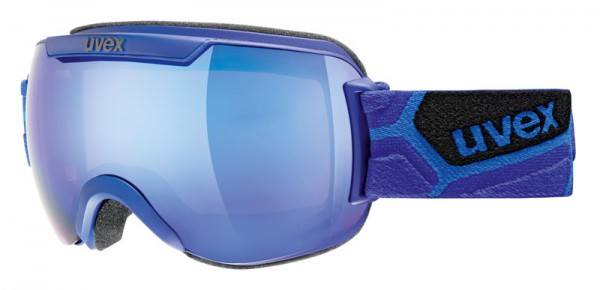 Skibrille Uvex Downhill 2000 white, cyan, cobalt & pitch