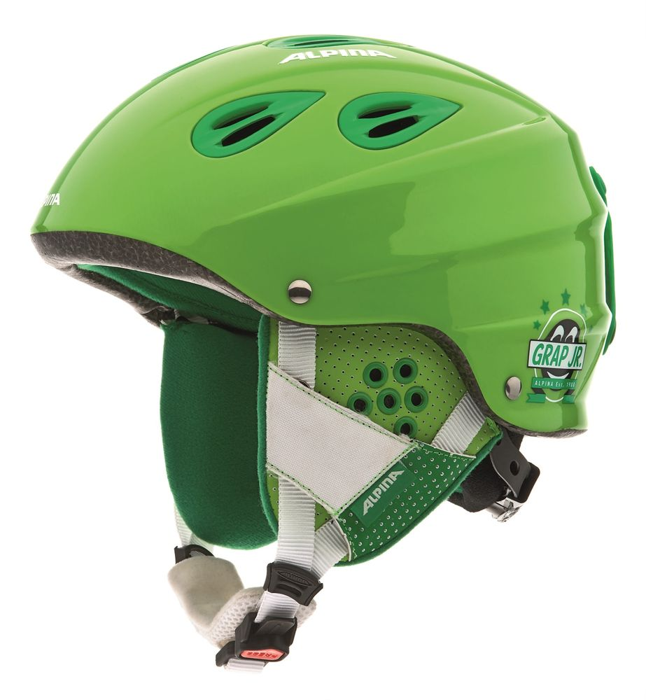 Kinderskihelm Alpina GRAP JUNIOR in grün glänzend 51-54 cm