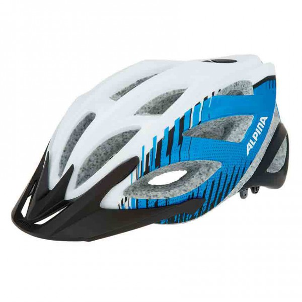Tour Fahrradhelm Alpina Skid 2.0 L.E. white blue black & anthrazit – Bild 1