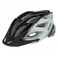 Tour Fahrradhelm Alpina Skid 2.0 white-green & black-silver-white – Bild 2