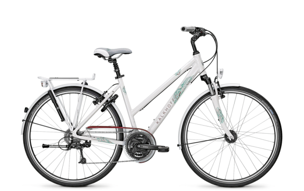 """Trekkingrad Kalkhoff My Style CONNECT LADY 27 27G 28"""" Trapez in white oder silver"""