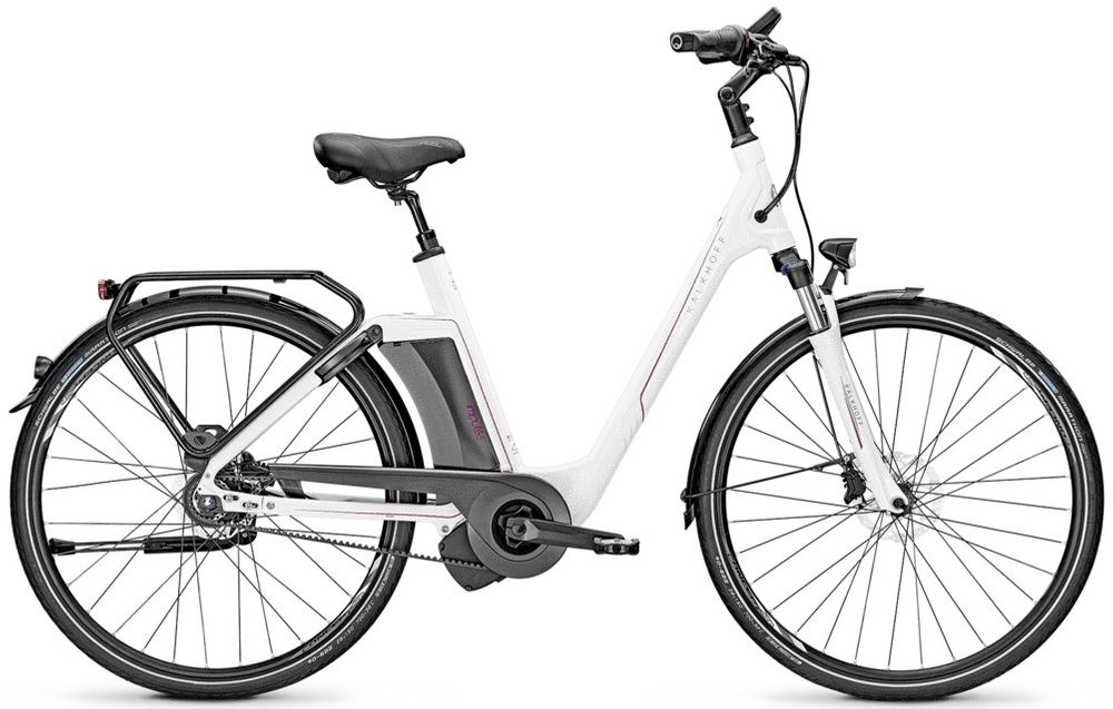 "E-Bike Kalkhoff Evo INCLUDE PREMIUM 8R Wave 8-Gang 17AH 36V 28"" Rücktritt white"