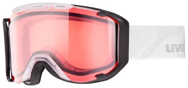 Skibrille Uvex Snowstrike stimu lens black matt & clear