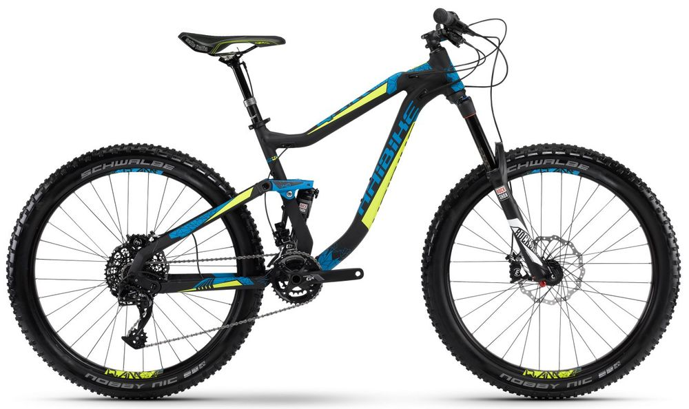 "MTB Haibike Q.AM Plus 7.05 27,5"" 20-Gang schwarz/cyan/lime matt"