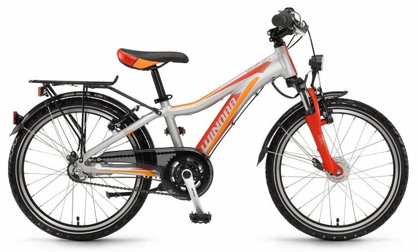 "Kinderrad Winora Dash 20 20"" grau/rot/orange matt 3-Gang Shimano Nexus Nabenschaltung"