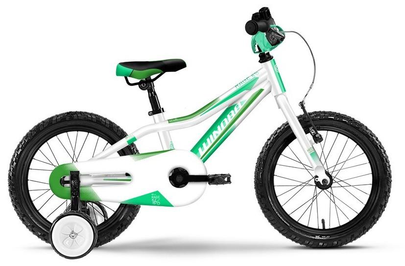 """Kinderrad Winora rage 16"""" Rahmenhöhe 21 cm weiss-grün"""