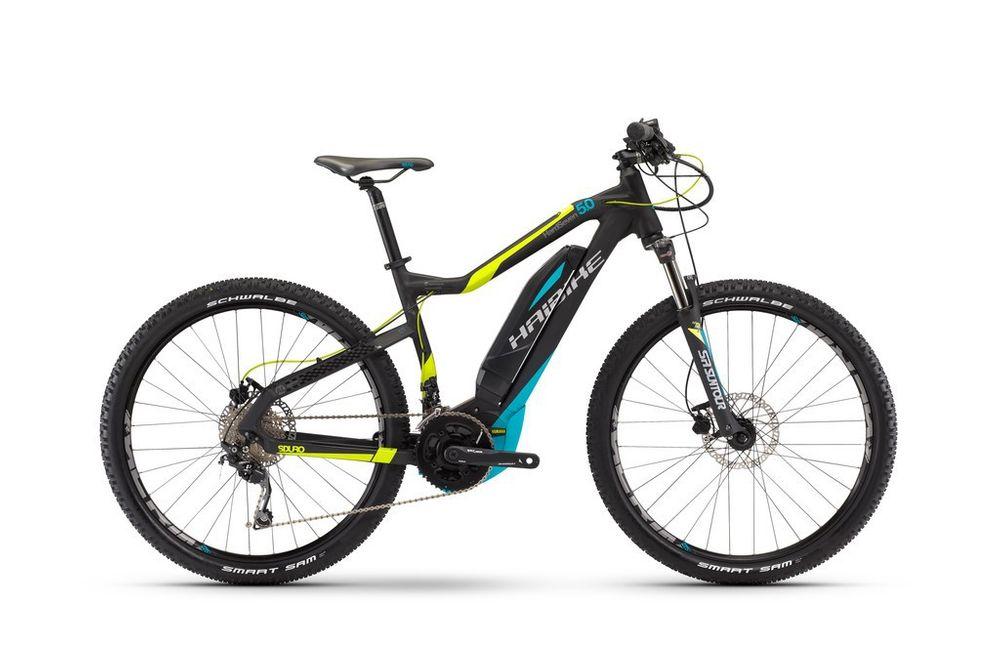 "E-Bike Haibike SDURO HardNine 5.0 400Wh 20-G Deore 29"" 17 Rh 45 schwarz/lime/cyan"