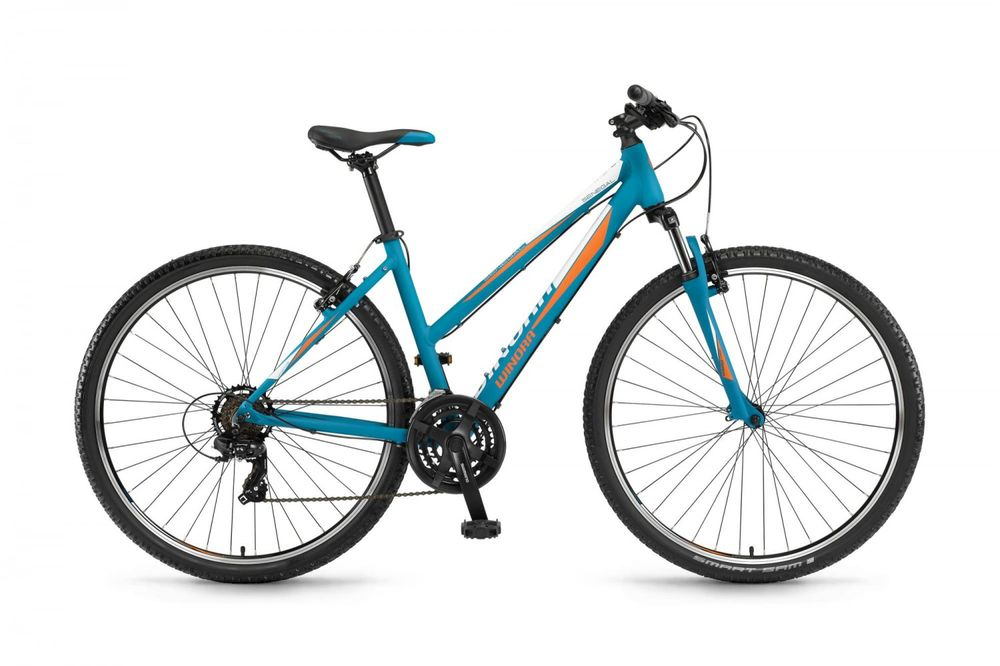 "Crossrad Winora Senegal 28"" Damen blau-orange-weiss 21 G"