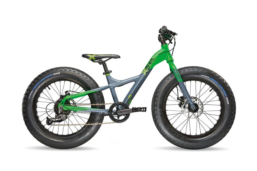 "Kinderrad S'COOL XXfat 20"" 9G Altus Rh30 in grey lemon FATBIKE"