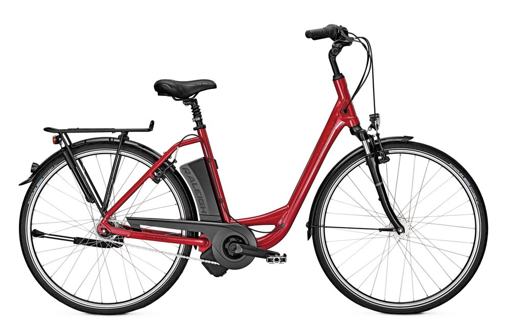 E-Bike Raleigh Dover Impulse 7 7G 11 Ah 28 Zoll Wave Freilauf in red