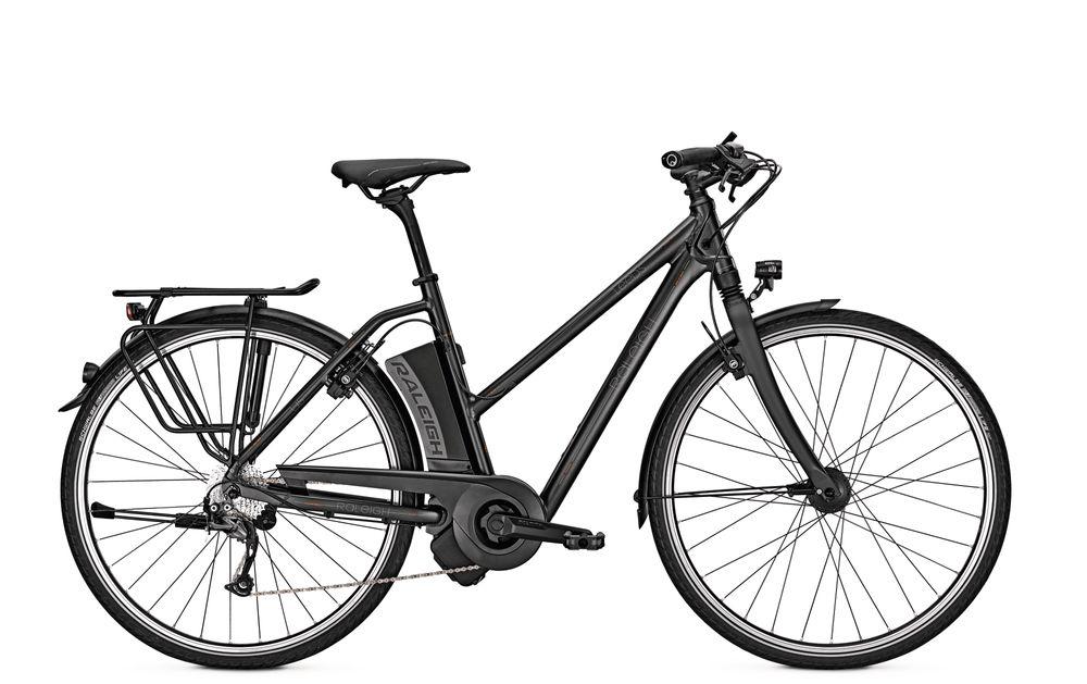 E-Bike Raleigh Leeds 9 HS 9G 14.5 Ah 28 Zoll Damen Trapez Freilauf in blackmatt