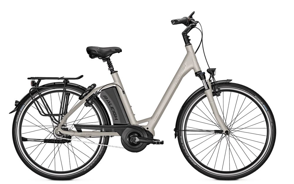 E-Bike Raleigh Corby 8 HS 8G 17.5 Ah 26 Zoll Wave Freilauf in whitematt Rh 45