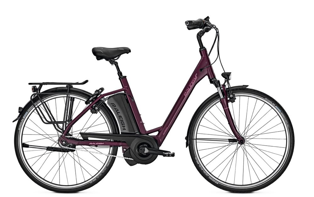 E-Bike Raleigh Boston 8 HS 8G 13 Ah 28 Zoll Wave Freilauf in redmatt