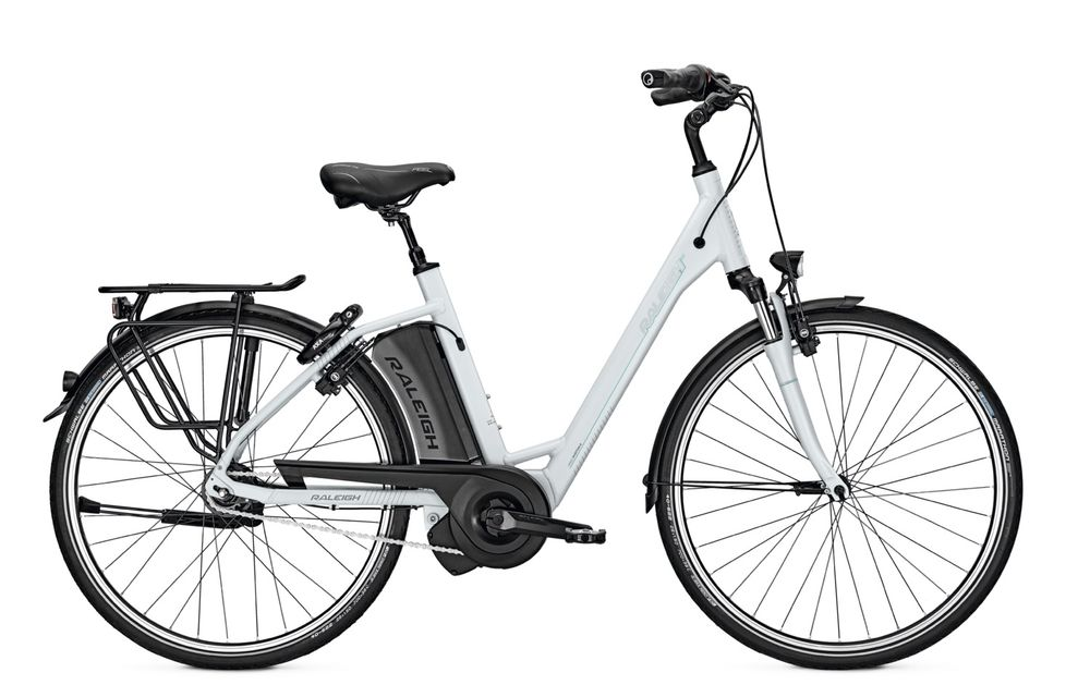 E-Bike Raleigh Boston 8R HS 8G 13 Ah 28 Zoll Wave Rücktritt in silvermatt