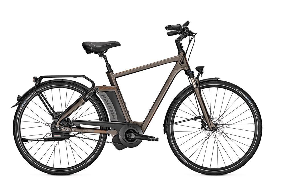 E-Bike Raleigh Newgate Premium Harmony 17 Ah 28 Zoll Herren Diamant Freilauf in greymatt