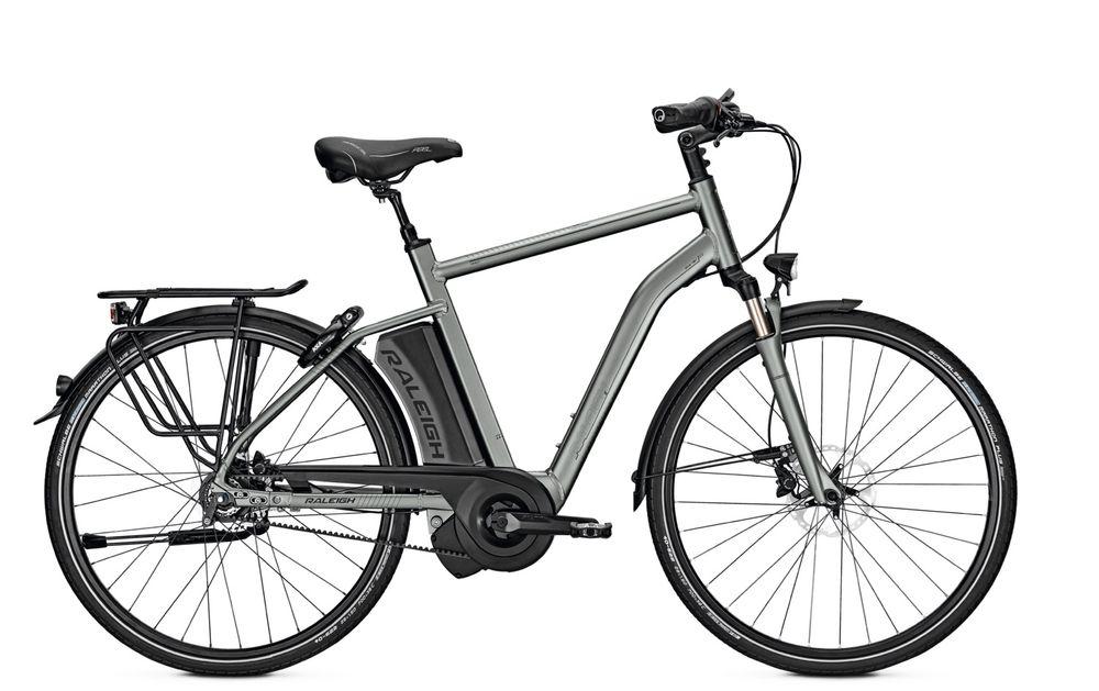 E-Bike Raleigh Boston Premium 8G 17.5 Ah 28 Zoll Herren Diamant Freilauf in greymatt