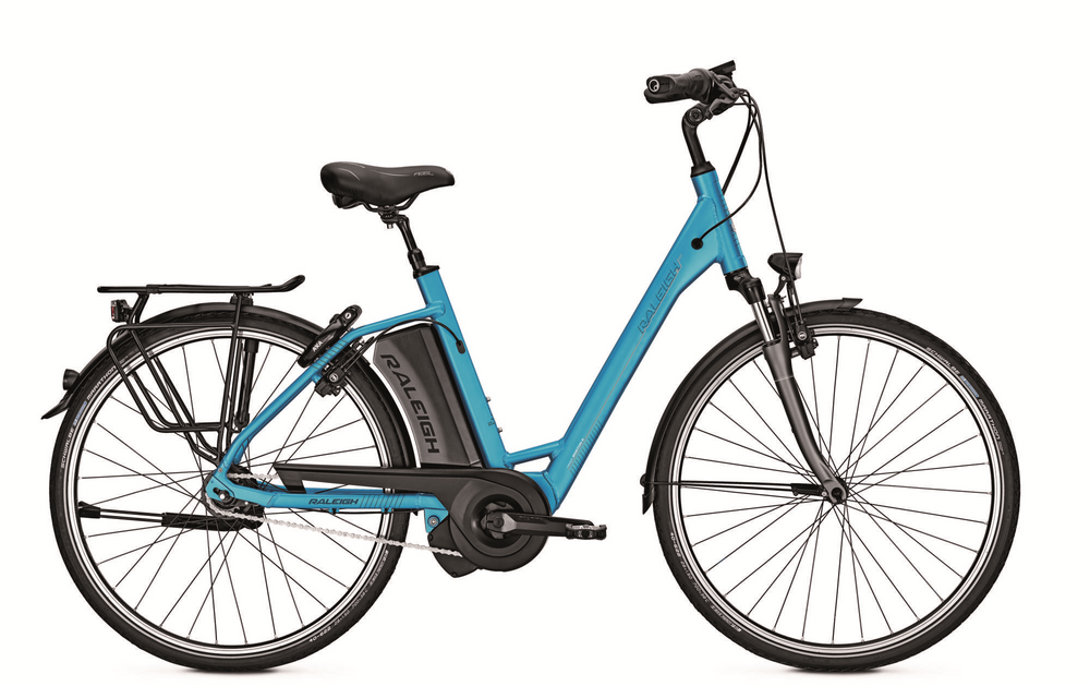 E-Bike Raleigh Boston 8 HS 8G 17.5 Ah 28 Zoll Wave Freilauf blue Impulse EVO