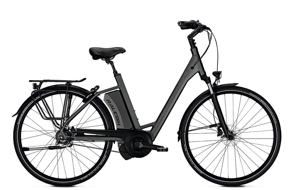 E-Bike Raleigh Boston R Premium 8G 17.5 Ah 26 Zoll Wave Rücktritt in greymatt Rh 45