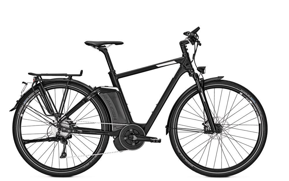 E-Bike Raleigh Ashford S10 10G 17 Ah 28 Zoll Herren Diamant Freilauf in blackmatt 45 km/h