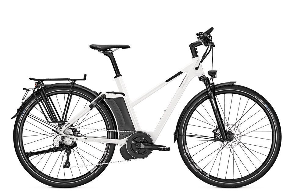 E-Bike Raleigh Ashford S10 10G 17 Ah 28 Zoll Damen Trapez Freilauf in white 45 km/h