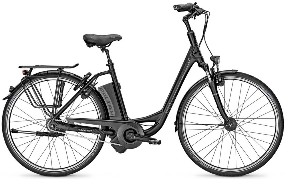 E-Bike Raleigh DOVER IMPULSE 8 HS Wave 8-G 14,5 AH Freilauf schwarz 26""