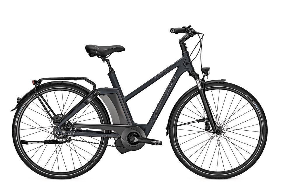 "E-Bike Kalkhoff Include Prem. i8 ES 17Ah Riemen 28"" Trapez Freilauf midnightblue"
