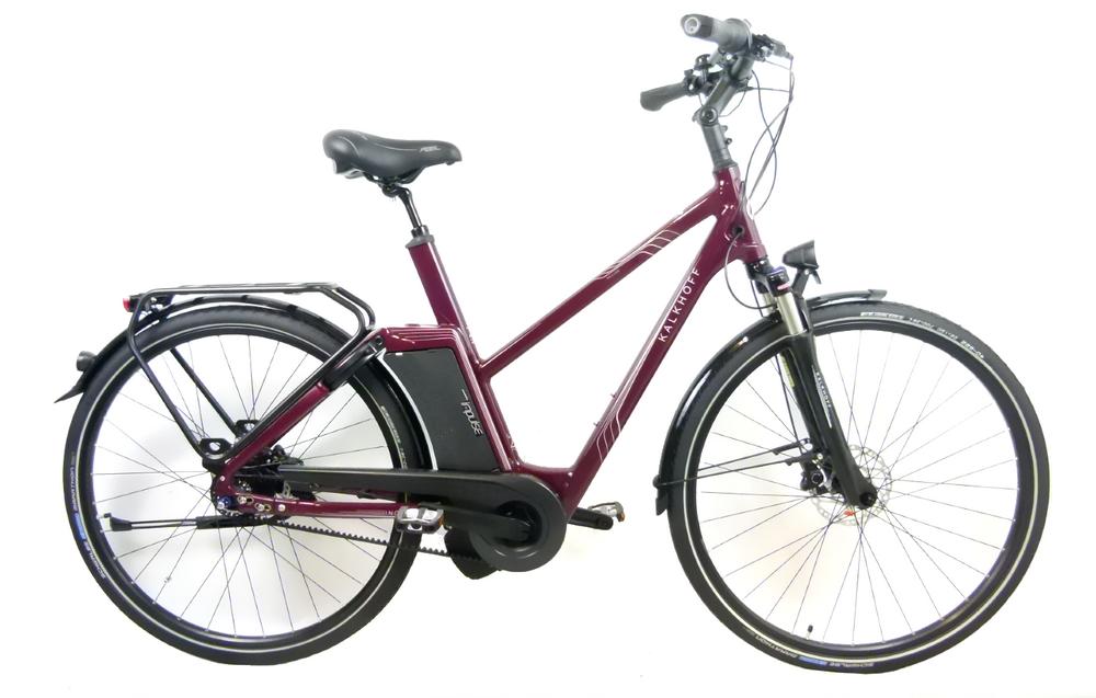 """E-Bike Kalkhoff Include Premium i8 17Ah Riemen 28"""" 8G Trapez Freilauf marsalared"""