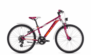 Kinder-/Jugendrad Cube Kid 240 Allroad girl 21-Gang 24 Zoll Rh 31 cm 2018 in berry´n´white