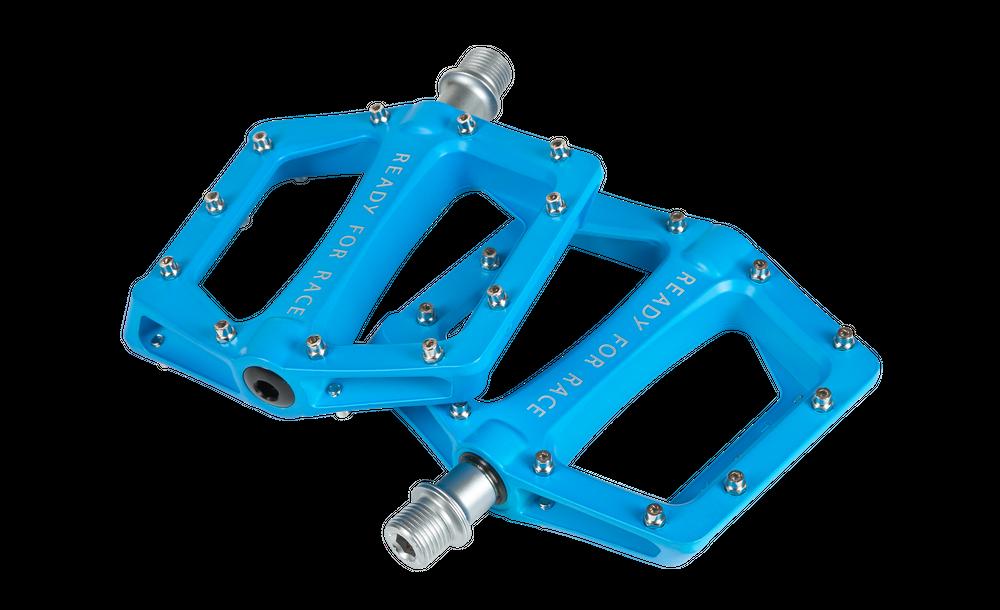 RFR Pedale Flat CMPT in blue Aluminium mit austauschbaren Anti-Rutsch-Pins