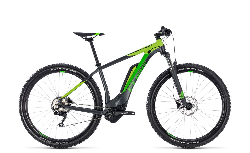 "E-MTB CUBE Reaction Hybrid Pro 500 27,5"" 10G Deore 500 Wh Bosch iridium´n´green"
