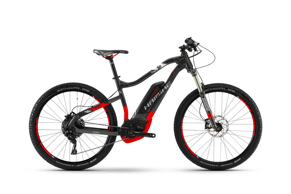 "E-Bike Haibike SDURO HardSeven 6.0 Perform. CX 500 Wh 11G XT 27.5"" Anthrazit/Rot"