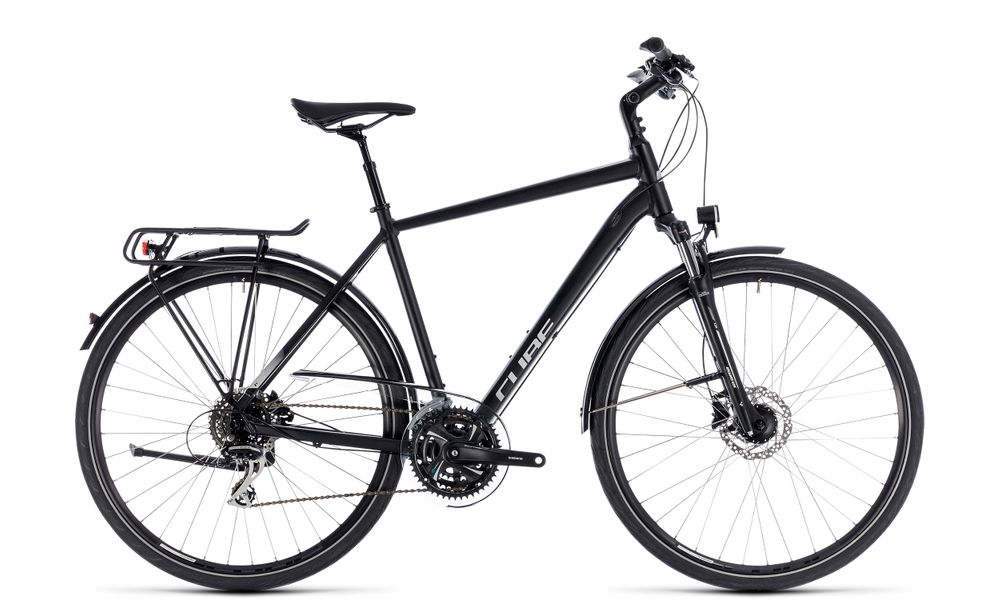"Trekkingrad Cube Touring ONE Herren 28"" 24-Gang Shimano black´n´grey"
