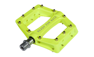 Pedale RFR Flat CMPT in neon yellow Aluminium mit Anti-Rutsch-Pins