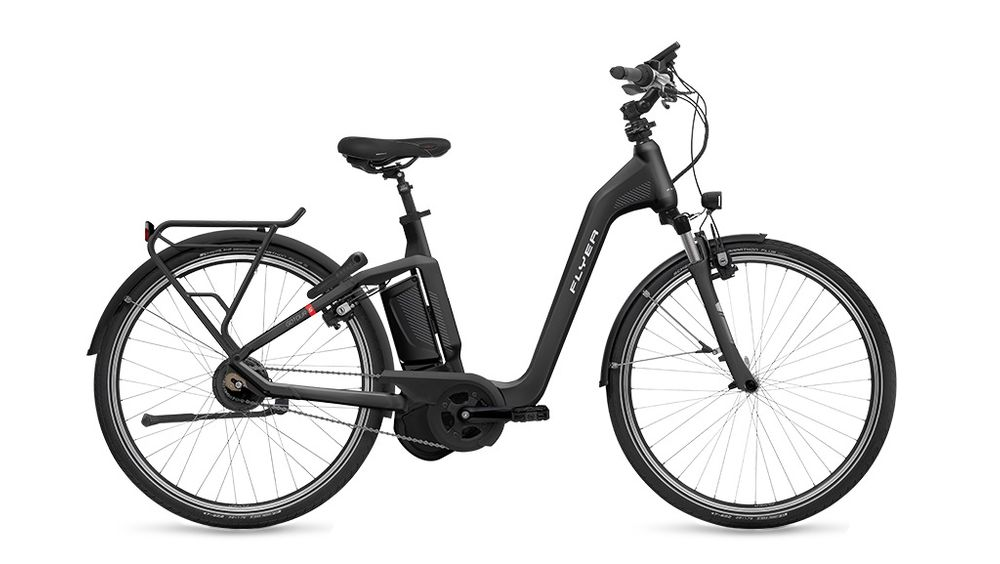 """E-Bike Flyer Gotour5 7.01R Rücktritt 28"""" 8G 15 Ah Panasonic Rh 55 cm schwarz"""
