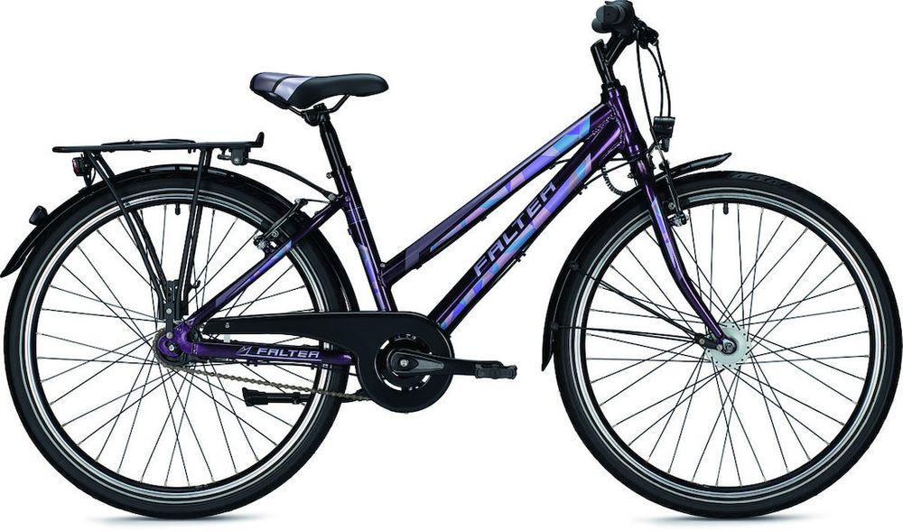 Jugendrad Falter FX 607 ND Trapez mit 7-Gang-Ruecktritt und Nabendynamo – Bild 1