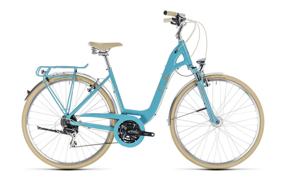 "Cityrad Cube Elly Ride 28"" 24G Freilauf aqua´n´orange"