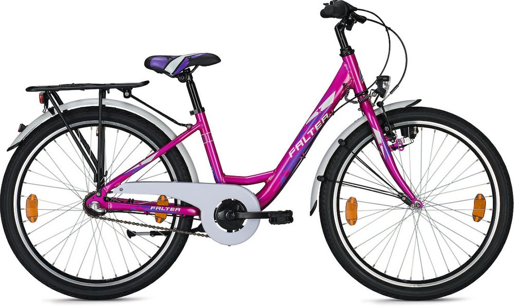 "Kinder-/Jugendrad Falter FX 403 Wave 24"" Rh 34cm 3G Rücktritt pink metallic-glanz"