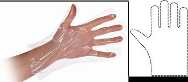 Einweg-Handschuhe Damen gehämmert 100er