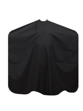 Friseurumhang schwarz mit Hakenverschluss