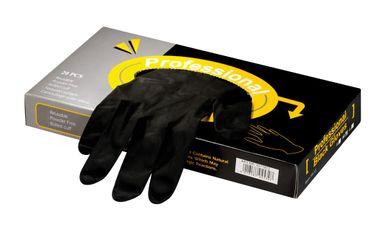 Professional Black Latex Handschuhe groß schwarz 20 Stück