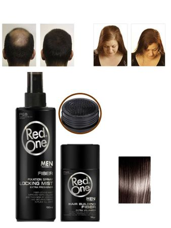 Redone Fiber Dark Brown 12gr & Fixation Spray 100ml – Bild 2