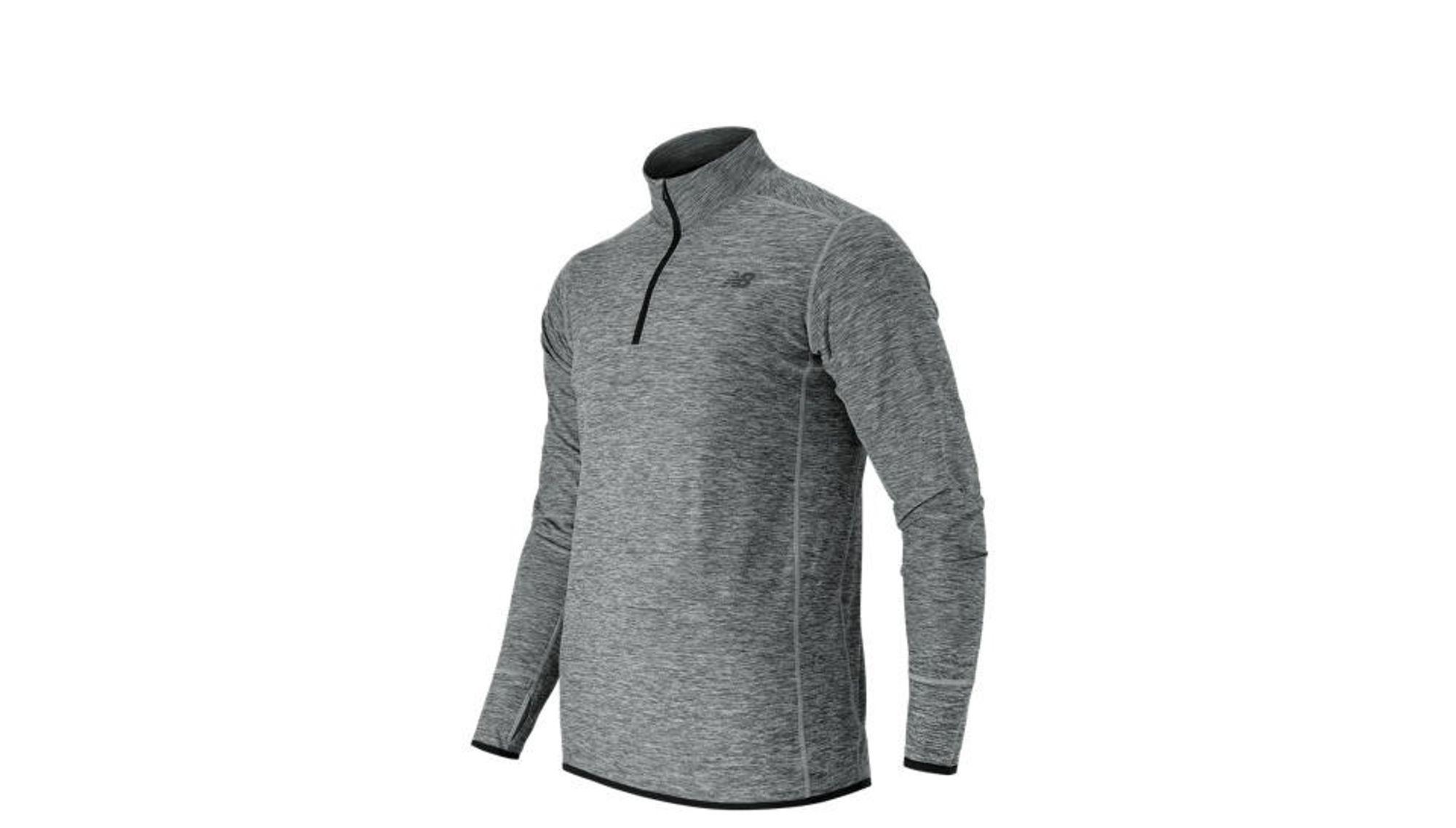 New Balance MT53030 Space Dye Quarter Zip - ag athletic grey