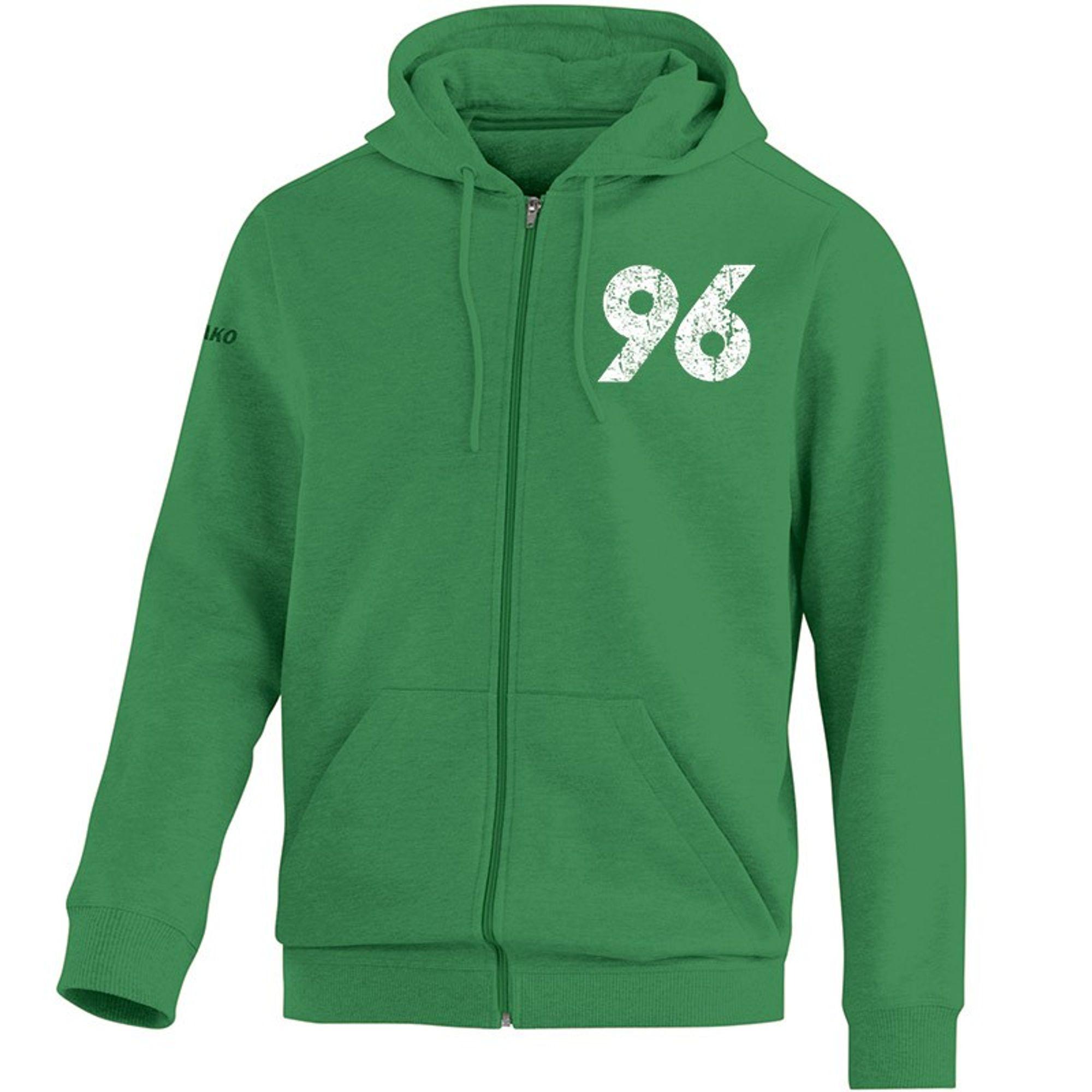 Jako Hannover 96 Kapuzenjacke !!Vintage!! Saison 2015/2016 - grün