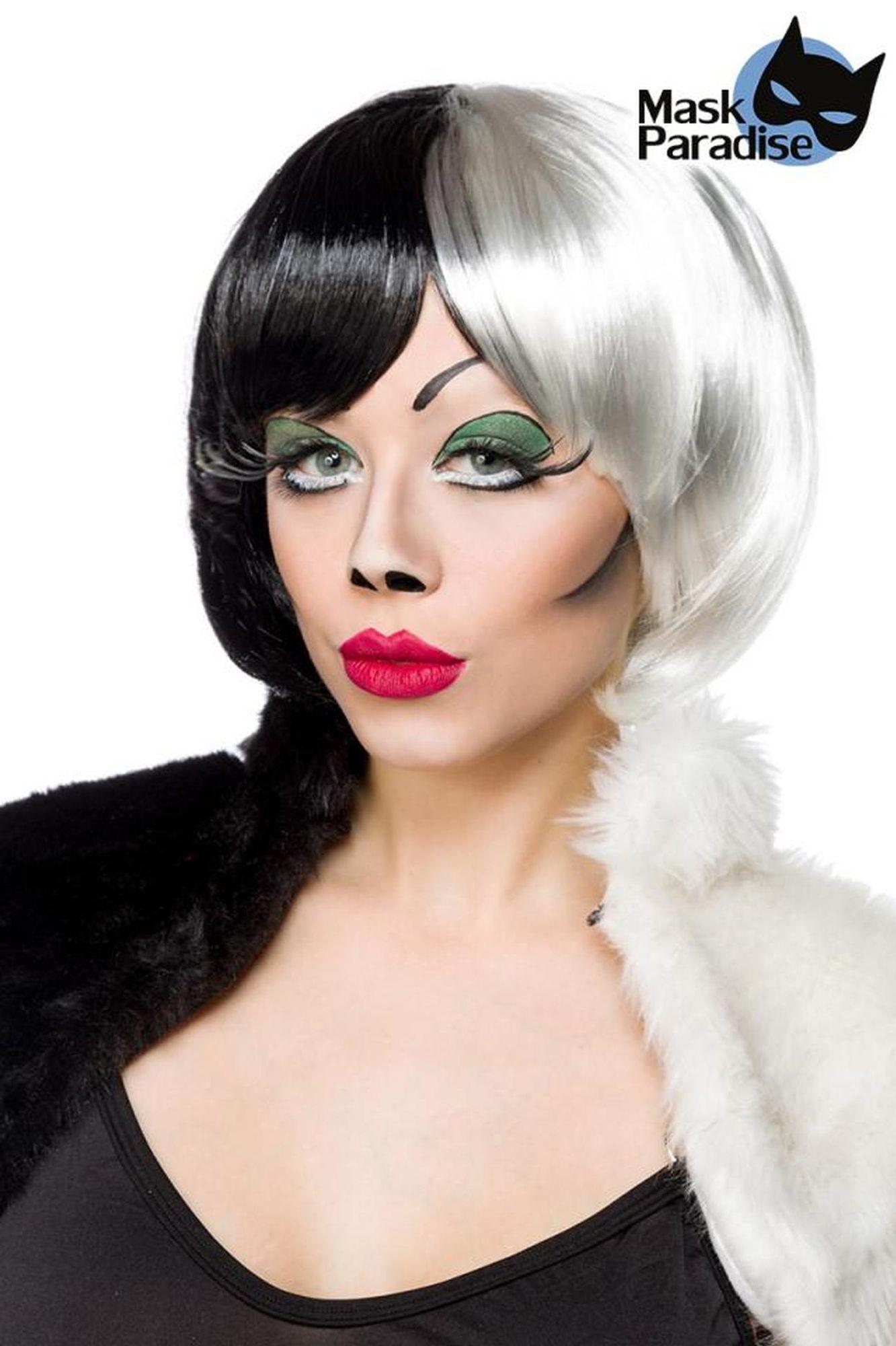 Mask Paradise Cruel Lady Perücke - schwarz/weiß
